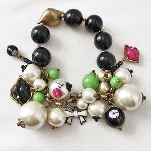 Betsey Johnson First Date Lips Charm Bracelet